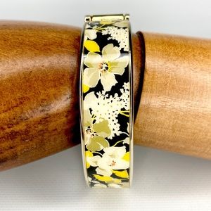 Vera Bradley Yellow White Gold Clamper Bracelet